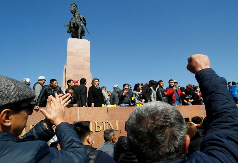 Митинг в Бишкеке.