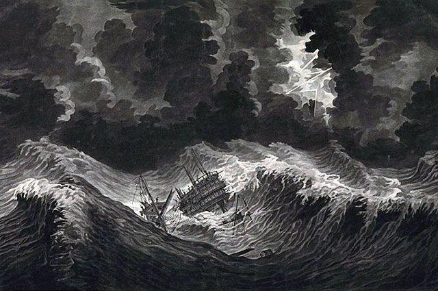 Разгул стихии 11 октября 1780 года возле острова Сент-Люсия.
