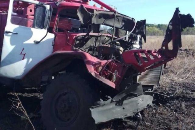 В Луганской области на мине подорвался пожарный автомобиль