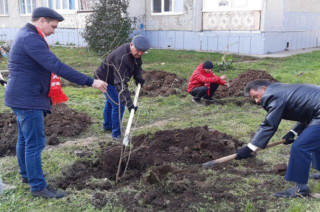 Активисты КПРФ Башкирии приняли участие в посадке деревьев в аллее Славы