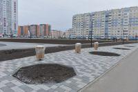 Сквер на пересечении Ускова-Взлетная