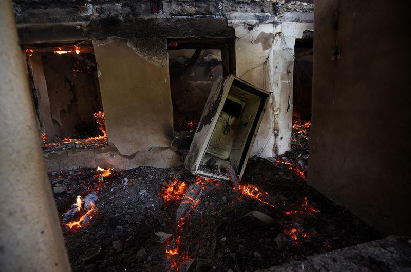 Дом в Мартакерте, разрушенный в результате обстрелов.