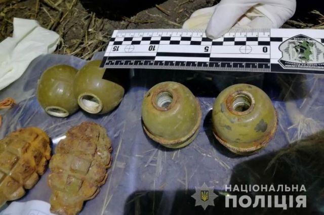 В Одесской области полицейские обнаружили тайник с боеприпасами