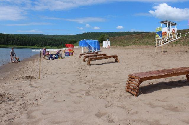 Открытие пляжа в селе Кривая Лука.