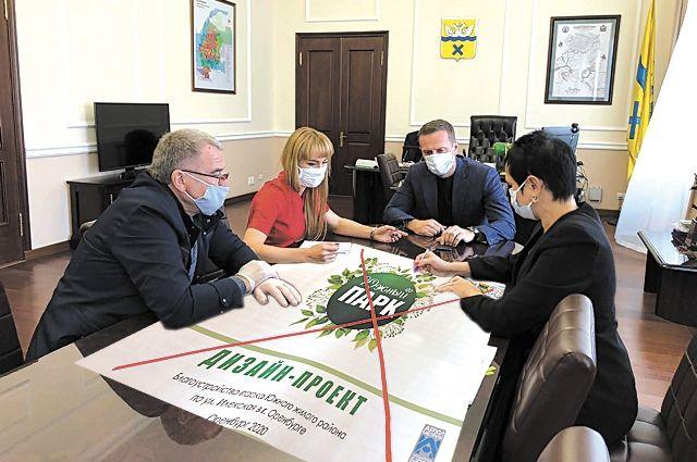 тобы решить, почему на конкурс выставлен не тот проект, который согласовывали жители, горожанам пришлось сесть за круглый стол с местной властью.
