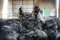 В Харьковской области сгорел склад с пятью тоннами угля.