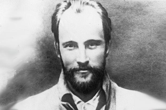 Николай Бауман, профессиональный революционер, деятель большевистской партии. Репродукция портрета.
