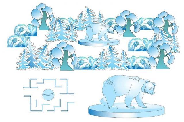 Основной темой для украшения района выбрали мотивы сибирской природы и сказаний.