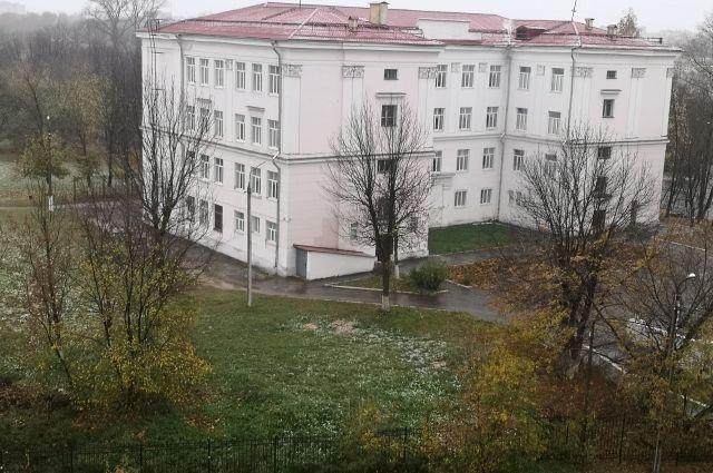 Первый снег в Твери.
