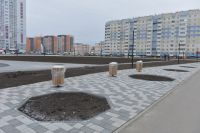 Новый сквер на Ускова-Взлетная