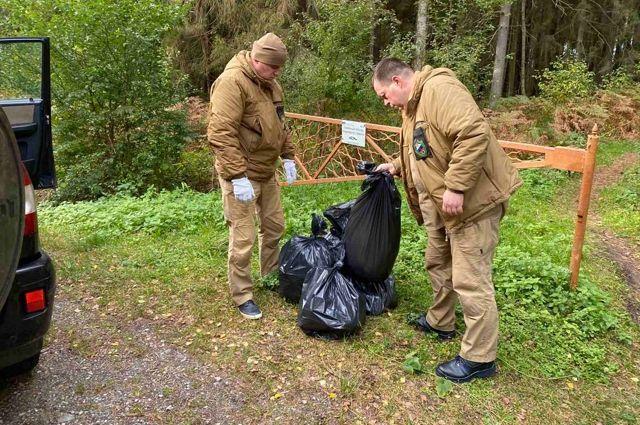 Волонтеры помогли очистить 13 километров Куршской косы