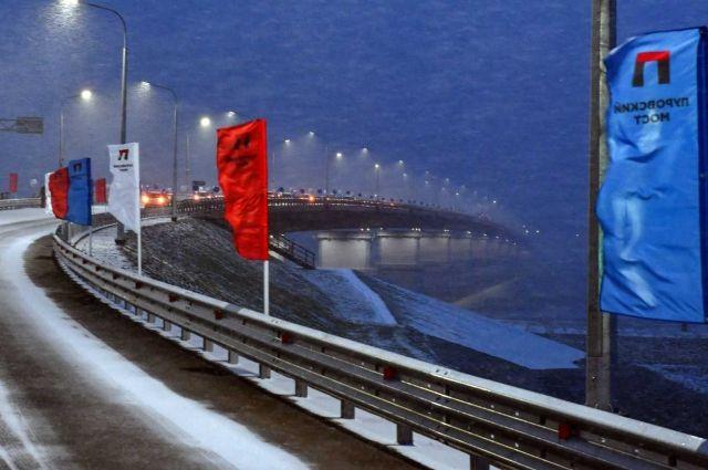 16 октября было открыто движение по Пуровскому мосту