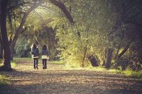 Можно сделать акцент на прогулках во время осенних каникул