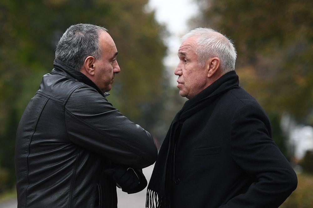 Продюсер Александр Роднянский (слева) и актер Сергей Гармаш.