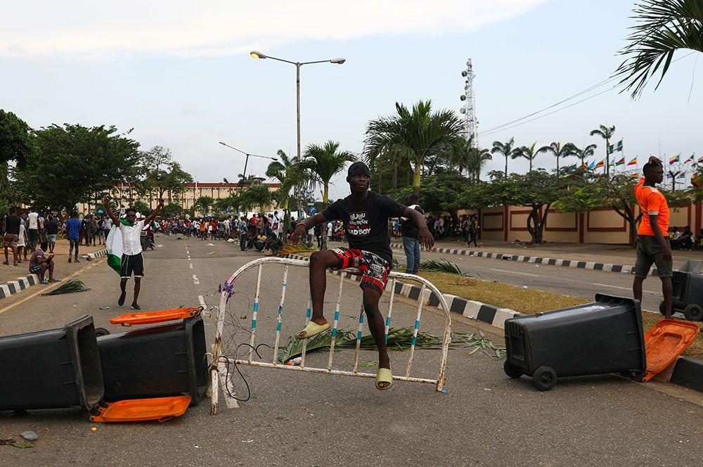 Протесты в Лагосе.