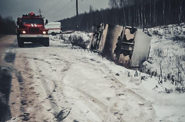Авария произошла на автодороге «Кунгур-Соликамск».