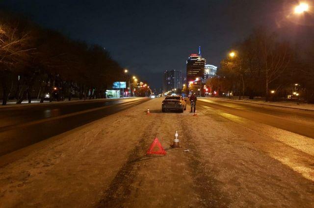 ДТП на ул. Н-Данченко в Новосибирске