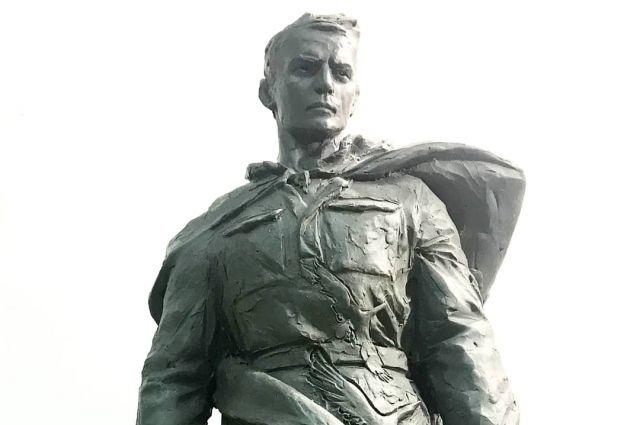 Один из первых проектов мемориала Советскому солдату.