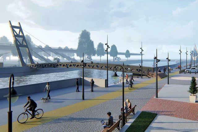 На Остров Канта построят разводной пешеходный мост