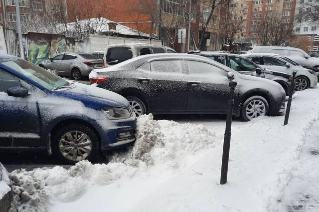 Тюменский снегопад.