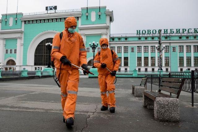 Специалисты ГУ МЧС России по Новосибирской области возобновили масштабные дезинфекционные работы в местах с высокой проходимостью.