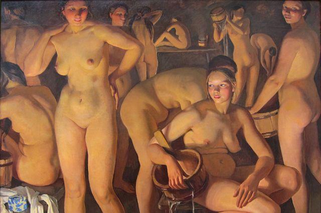 Зинаида Серебрякова, «Баня».