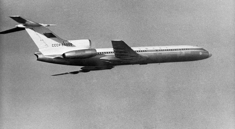 Самолет Ту-154, первый полет. 3 октября 1968 года.
