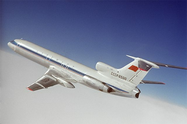 Самолет Ту-154. 1974 г.