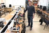 Кирилл работает в лаборатории робототехники и мехатроники КубГУ.