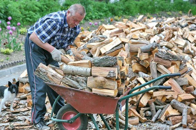 Чтобы не замёрзнуть, печь в деревенском доме приходится топить регулярно и основательно, а дрова запасать заранее.