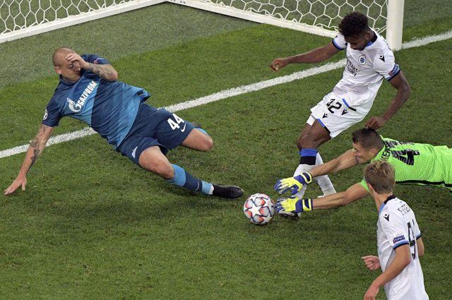 Матч «Зенит»— «Брюгге» группового этапа Лиги чемпионов.