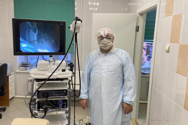 Отделение пополнилось высокотехнологичным эндоскопом для исследования ЖКТ