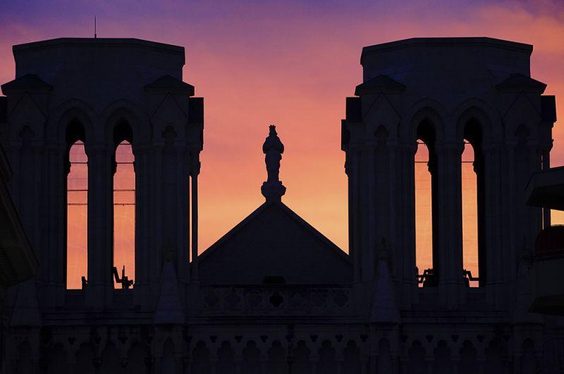 Базилика Нотр-Дам в Ницце, где произошел теракт.