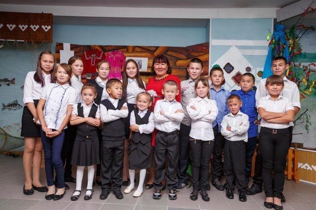 Галина Лаптева с учениками