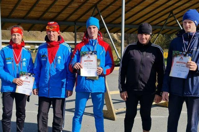 Воспитанники Барнаульской федерации биатлона - чемпионы и призеры первенства Алтайского края.