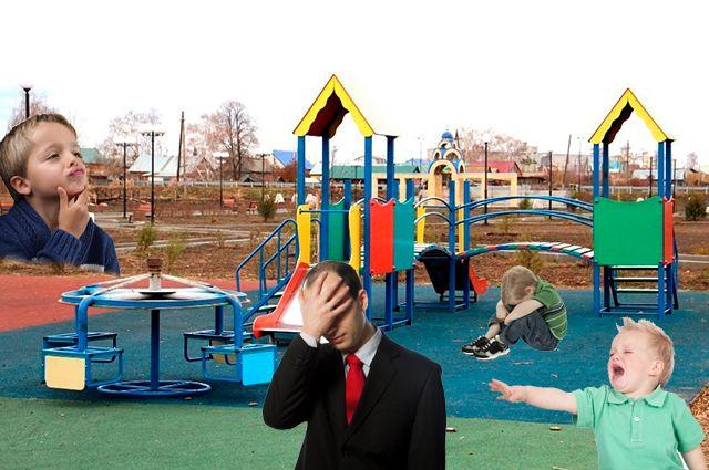В Бузулукском районе в рамках нацпроекта карусель на детской площадке перевернули «вверх тормашками» под надзором администрации и правительства.
