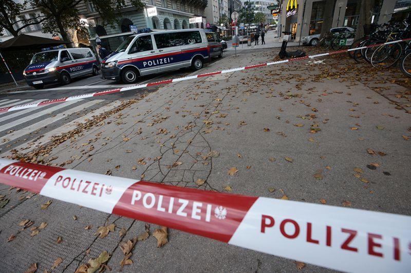 Место стрельбы в Вене.