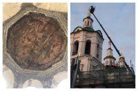 Под куполом тюменской Церкви Спаса обнаружили композицию