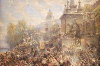 Картина «Минин на площади Нижнего Новгорода, призывающий к пожертвованиям»