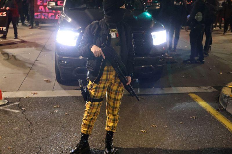Протесты в Портленде, штат Орегон.
