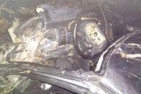 В ДТП один человек погиб и трое пострадали.