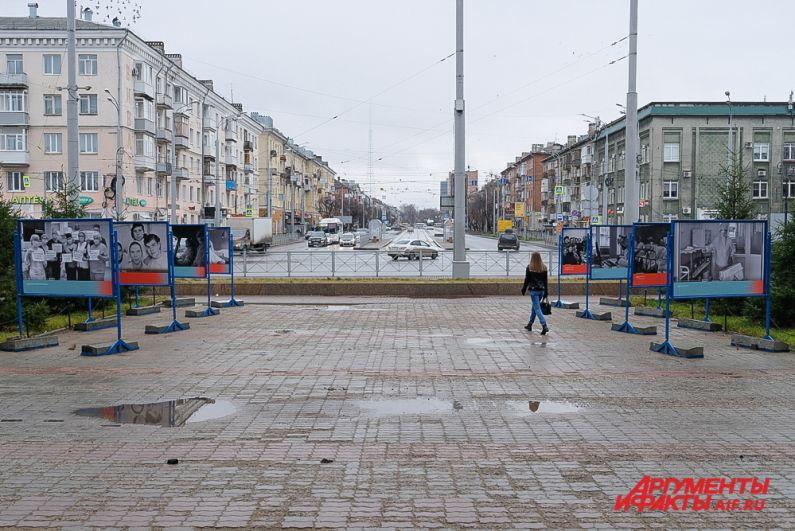 Уличная выставка «Спасая жизни. 1941-1945. 2020» в Перми.
