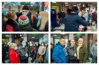В аэропорту Салехарда проводили призывников на службу
