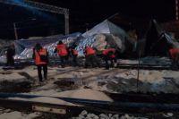 На станции Татарская сошли с рельсов вагоны грузивого состава