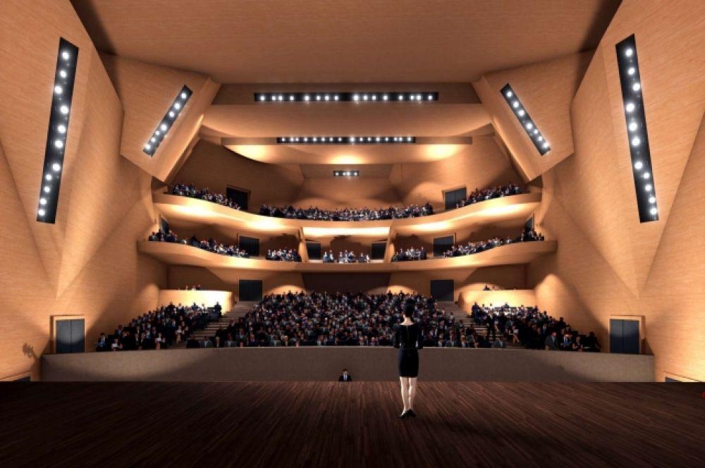 Зрительный зал и сцена.