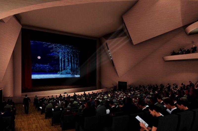 В центре здания находится сердце проекта - зрительный зал вместимостью 950 мест.