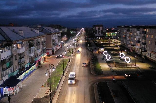 По словам жителей Туринска, улица Ленина особенно красива  в вечернее время.