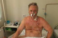 На больничную койку он попал с 75% поражением лёгких.