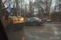 Новосибирцев возмущает дорожный ремонт в дождливую погоду.