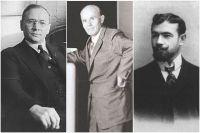 Владимир Зворыкин, Александр Понятов и Александр Ханжонков.
